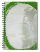 Abstract Green Circle 2- Art By Linda Woods Spiral Notebook