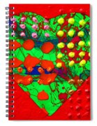 Abstract Haert 80218 Spiral Notebook
