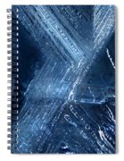 Abstract Ice. Darkness Spiral Notebook