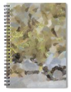 Abstract Image Of Car Passing Through A Dust Storm Spiral Notebook