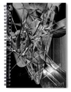 Abstract In Black And White 2 Spiral Notebook
