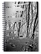 Abstract In Ice Spiral Notebook