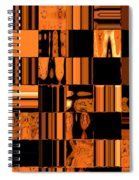 Abstract In Orange And Black Spiral Notebook