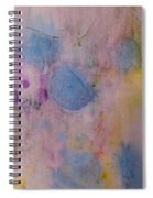 Abstract In Red, Blue, And Yellow Spiral Notebook