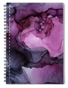 Abstract Ink Painting Plum Pink Ethereal Spiral Notebook
