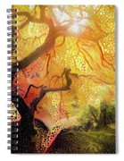 Abstract Japanese Maple Tree 2 Spiral Notebook