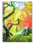 Abstract Japanese Maple Tree 5 Spiral Notebook