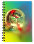Abstract Karma Wheel Spiral Notebook