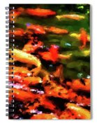 Abstract Koi 38 Spiral Notebook