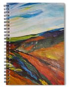 abstract landscape-Haloze Spiral Notebook