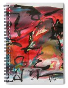 Abstract Landscape Sketch13 Spiral Notebook