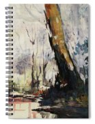 Original Watercolor Painting. Abstract Watercolor Landscape Painting Spiral Notebook