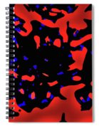 Abstract Lemon Tree Leaves Spiral Notebook