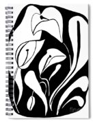 Abstract Lilies Spiral Notebook
