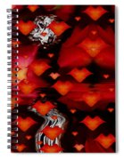 Abstract Love Spiral Notebook