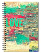 Abstract Love V2 Spiral Notebook