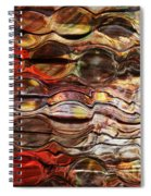 Abstract Magnified Lines Spiral Notebook