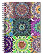 Abstract Mandala Collage Spiral Notebook