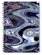 Abstract Marble Spiral Notebook