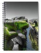 Abstract Mood Selective Color Spiral Notebook
