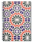 Abstract Moroccon Tiles Colorful Spiral Notebook