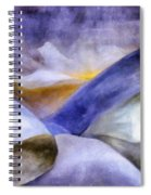 Abstract Mountain Landscape Spiral Notebook