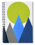 Abstract Mountains And Sun Spiral Notebook