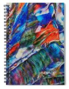abstract mountains II Spiral Notebook