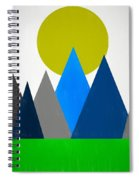Abstract Mountains Landscape Spiral Notebook