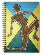 Abstract Nude Ebony In Heels Spiral Notebook