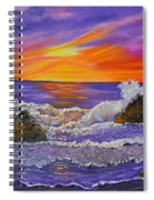 Abstract Ocean- Oil Painting- Puple Mist- Seascape Painting Spiral Notebook