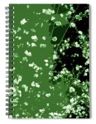Abstract Of Backyard Blossoms Spiral Notebook