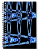 Abstract Of Blue Clock Works Spiral Notebook
