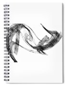 Abstract Of Dolphins In Courting Ritual Spiral Notebook