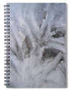 Abstract Of Ice Spiral Notebook