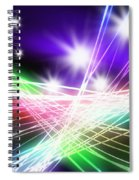 Abstract Of Stage Concert Lighting Spiral Notebook