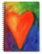 Abstract Orange Heart 1 Spiral Notebook