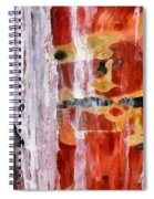 Abstract Painting Untitled #45 Spiral Notebook