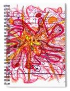 Abstract Pen Drawing Fifteen Spiral Notebook