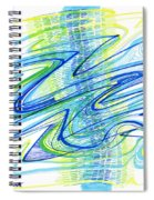 Abstract Pen Drawing Forty Spiral Notebook