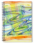 Abstract Pen Drawing Forty-one Spiral Notebook
