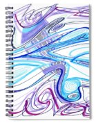 Abstract Pen Drawing Forty-two Spiral Notebook