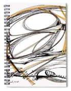 Abstract Pen Drawing Four Spiral Notebook