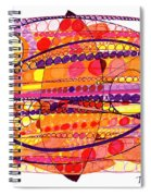 Abstract Pen Drawing Fourteen Spiral Notebook