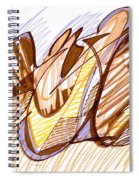 Abstract Pen Drawing Nine Spiral Notebook