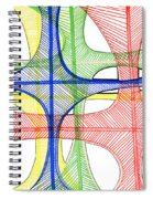 Abstract Pen Drawing Seventeen Spiral Notebook