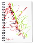 Abstract Pen Drawing Seventy Spiral Notebook