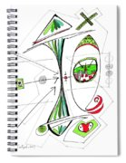 Abstract Pen Drawing Seventy-six Spiral Notebook