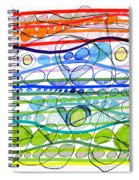 Abstract Pen Drawing Sixteen Spiral Notebook
