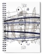 Abstract Pen Drawing Thirty-four Spiral Notebook